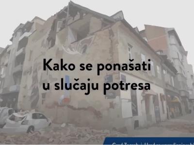 Kako se ponašati za vrijeme i nakon potresa: VIDEO, LETAK I SMJERNICE ZA DJECU I RODITELJE