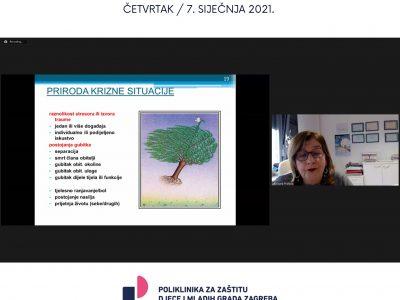 """Održali smo online seminar za stručnjake  """"Potres i djeca u krizi: Trebaju li svi isto?"""""""