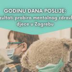 mentalno zdravlje djece u Zagrebu, godinu dana poslije