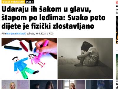 """24 sata: """"'Odgoj' u Hrvatskoj: Udaraju ih šakom u glavu, štapom po leđima: Svako peto dijete je fizički zlostavljano"""""""
