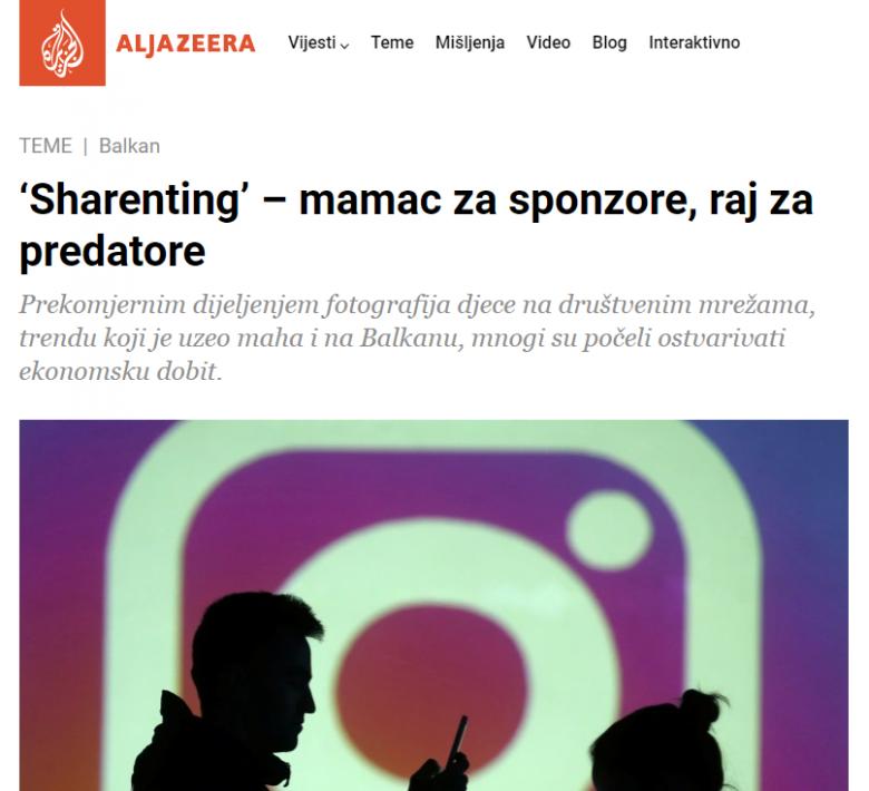 """Al Jazeera: """"'Sharenting' – mamac za sponzore, raj za predatore"""""""