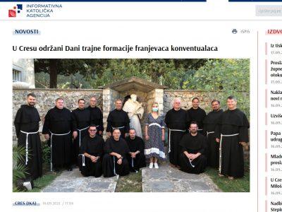 """IKA: """"U Cresu održani Dani trajne formacije franjevaca konventualaca"""""""